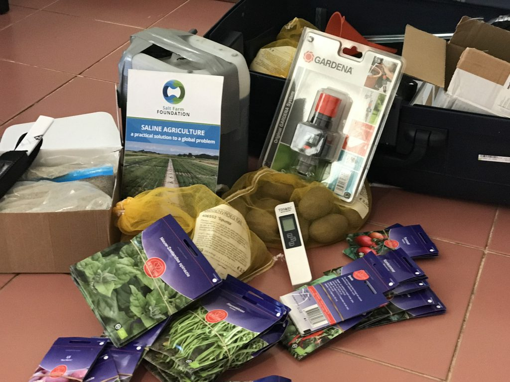 Starterspakket voor de deelnemers op Bonaire
