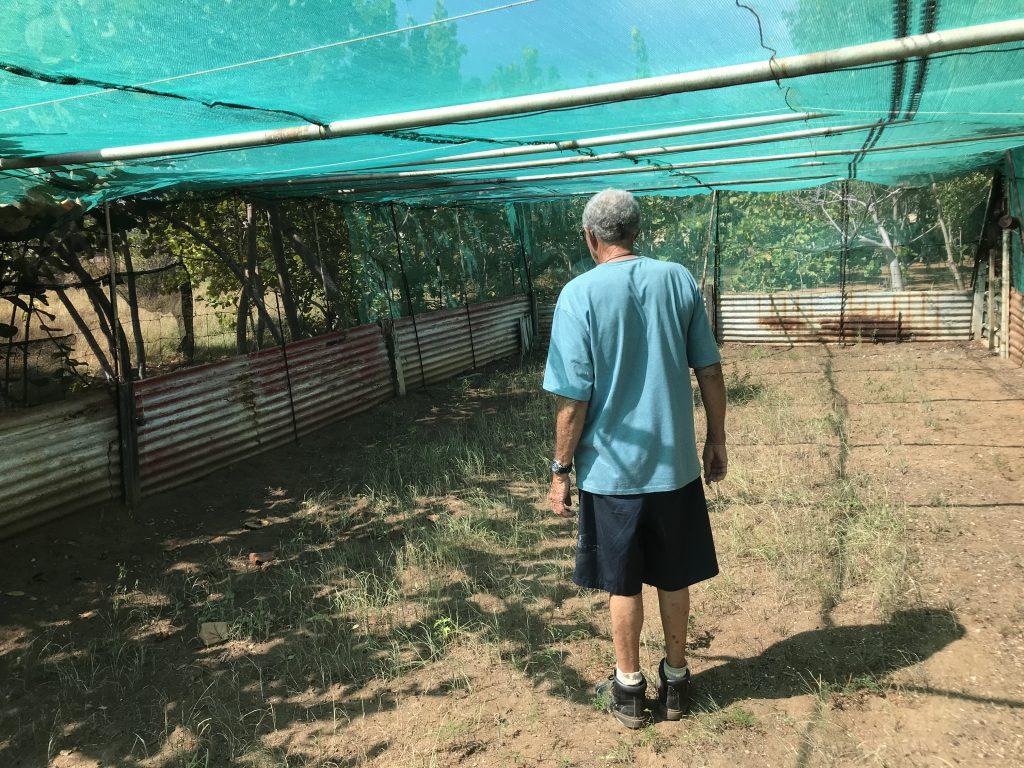 Testlocatie van een boeren op Bonaire
