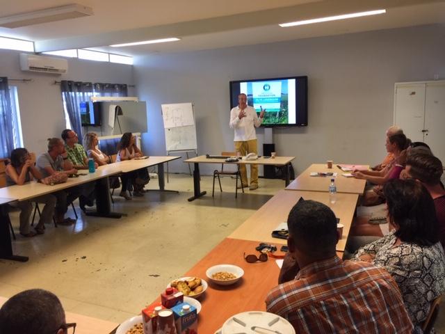Tijden de bijeenkomst Zilte landbouw Bonaire