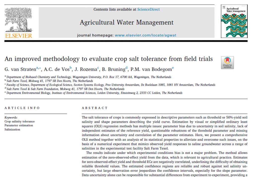 An improved methodology to evaluate crop salt tolerance 2