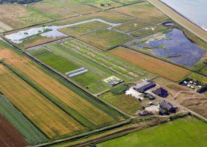 Aerial view Salt Farm Texel
