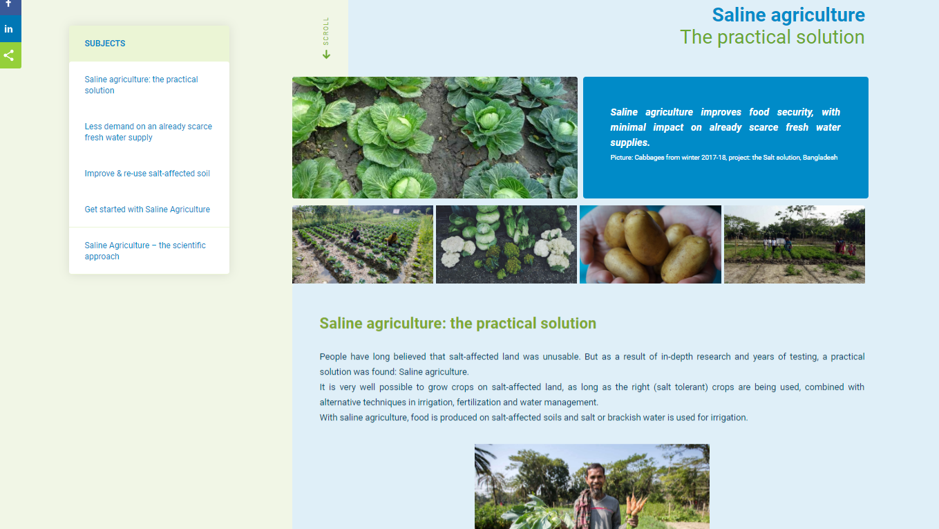 Information about Saline agriculture