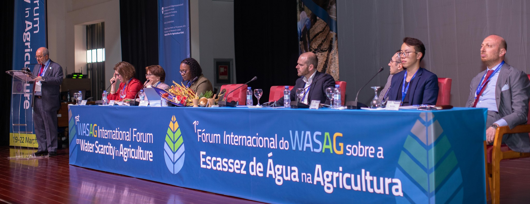 "Impression of the ""saline agriculture"" session with Dr. Arjen de Vos (sitting 4th from left)"